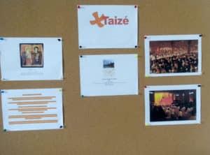 Panneau de présentation de la Communauté de Taizé dans notre Salle