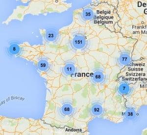 carte des parcours alpha france