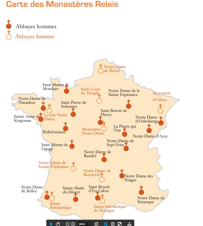 Carte des abbayes