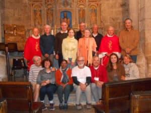Messe du 14 septembre, Gérard assis, au milieu du 1er rang